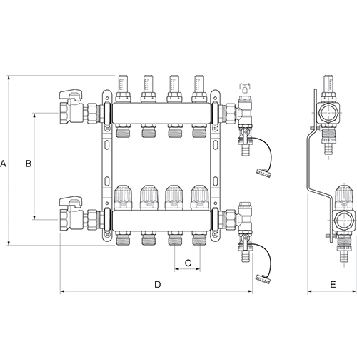 Manifold UFH Diagram